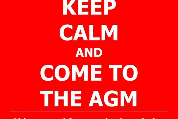 AGM – 7th October @ 19:30