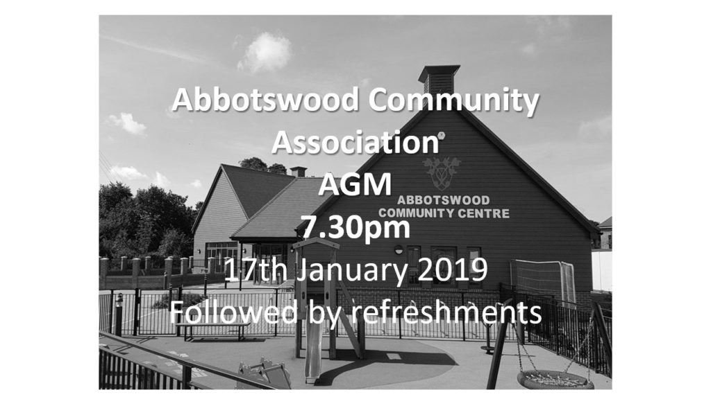 Abbotswood AGM poster